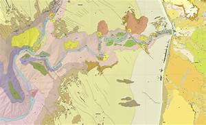 Geologic Map Of Monterey Canyon And The Soquel Canyon