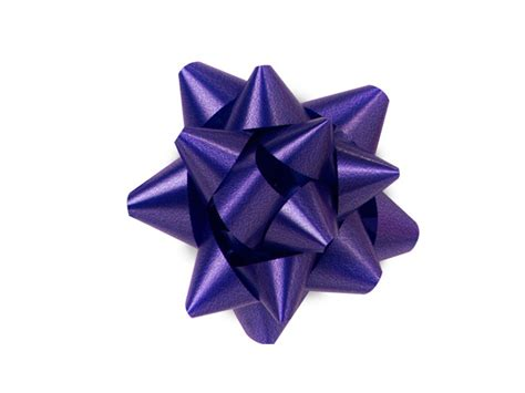 "Purple Small Star Gift Bows 212"" Bows Bs3pu"