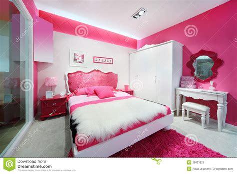 set de bureau fille stylish pink white beautiful bedroom stock photography image 28023922