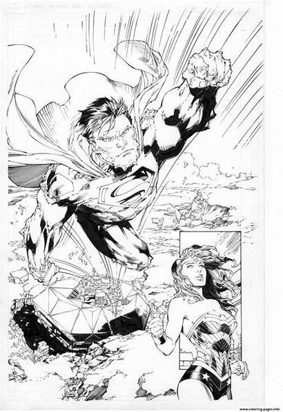 Coloring Wonder Woman Dc Comics Benes Ed