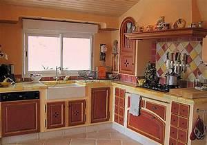 Decoration Murale Exterieur Provencale : decoration cuisine photo provencale ~ Nature-et-papiers.com Idées de Décoration