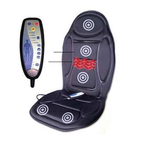 chair seat massager heat vibrate cushion back neck
