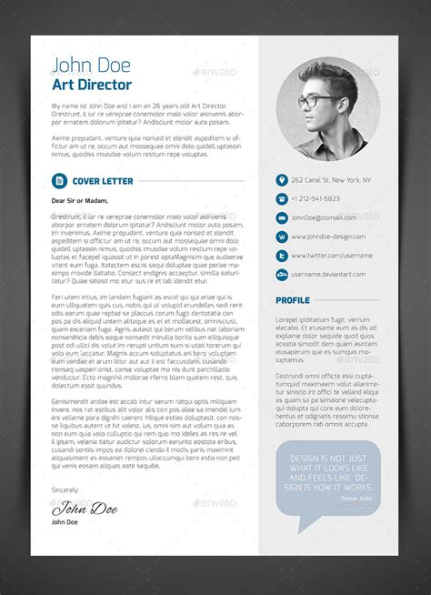 Resume Cv Or Cover Letter by 3 Resume Cv Cover Letter By Bullero Graphicriver