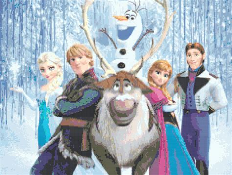frozen  characters    cross stitch