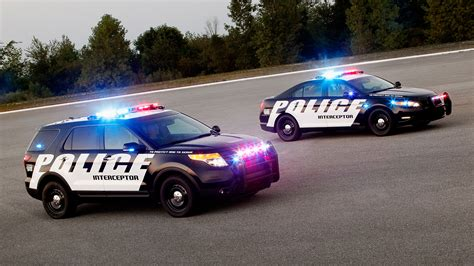 ford police interceptors wallpaper hd car
