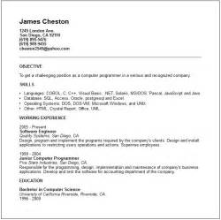 resume objective statement for engineering internship computer programmer resume exle free templates collection