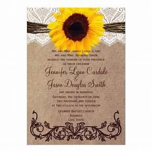 rustic country sunflower wedding invitations sunflower With cheap wedding invitations with sunflowers