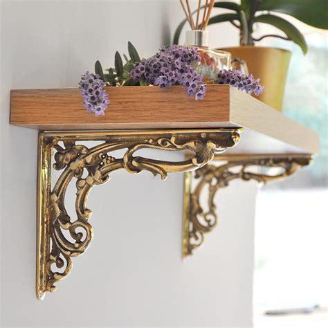 brass victorian scroll leaf bracket brass brackets solid
