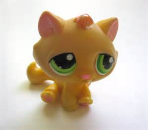 lps yellow cat items similar to littlest pet shop ooak the