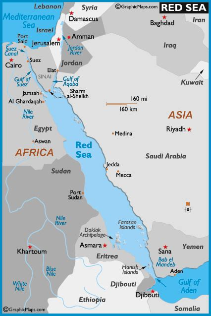 red sea map  map   red sea depth size history