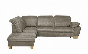 Mein Sofa Höffner : meinsofa leder ecksofa grau braun leder raica graubraun links ~ Frokenaadalensverden.com Haus und Dekorationen