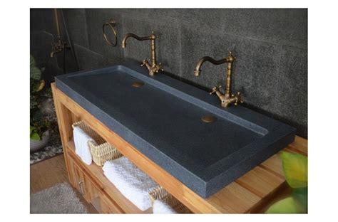 double vasques en pierre yate  poser  granit haut