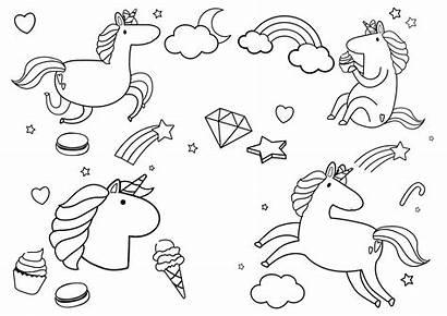 Unicorn Coloring Momlifehappylife Birthday Princess Unicorns Happy