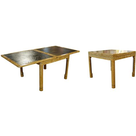 mid century game table mid century modern enrique garcel lacquer leather