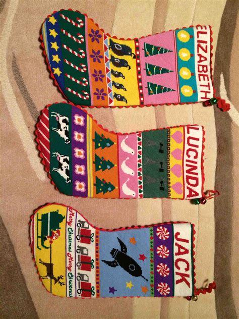 christmas stockings needlepoint kits  canvas designs