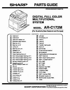 Sharp Ar-c172m  Serv Man18  Parts Guide