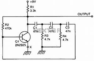 audio oscillator audio circuits nextgr With transistor phase shift oscillator