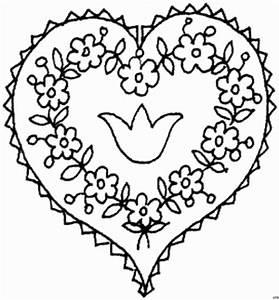 Herz Mit Blumen : herz mit blumen 2 ausmalbild malvorlage gemischt ~ Frokenaadalensverden.com Haus und Dekorationen