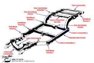 1968 to 1972 corvettes for sale 1965 corvette crossmembers frame brackets parts parts