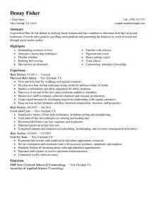 Hair Stylist Resume Example Personal Services Sample