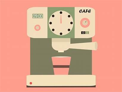 Coffee Machine Dribbble Animated Animation Anyone Code