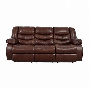 Bobs furniture leather sofa buy for Ashley leather sofa