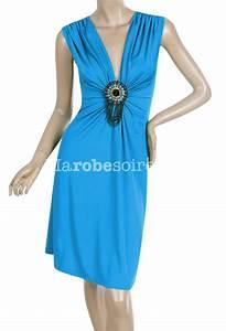 robe de soiree victoria bleu courte belle broche fermant With victoria kha robe de soirée