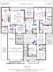 courtyard house plan modern courtyard house plans