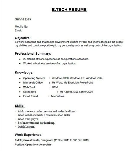 Resume Builder For Freshers by The 25 Best Resume Format For Freshers Ideas On