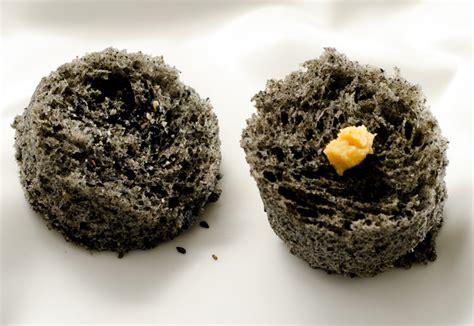 black sesame microwave sponge cake  miso molecular