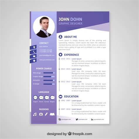 Lebenslauf Professionell by Professional Curriculum Vitae Template Vector Free