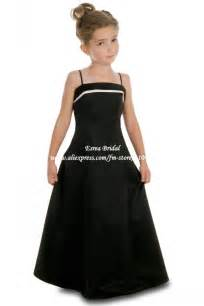 country bridesmaid dresses lovely spaghetti satin cheap junior bridesmaid dresses black fb036 in