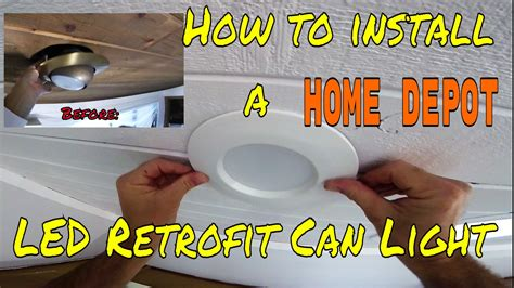 Installing Sconces - diy how to install home depot led retrofit can light kit