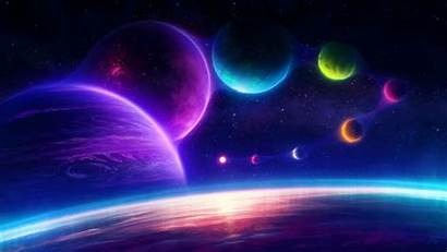 4k Planets Pink Chill Colorful Universe Scifi