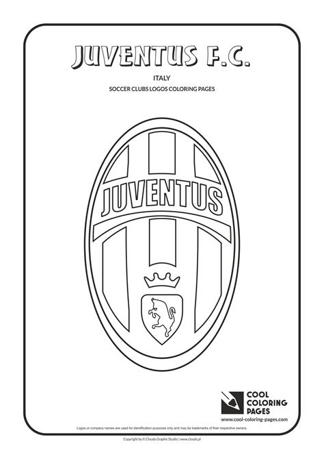 Juventus F.C. logo coloring page | Football coloring pages ...