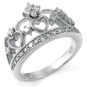 crown shaped engagement rings sterling silver crown wedding ring kingswayjewelry