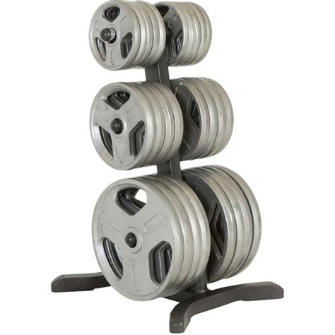 fitness reality  class olympic weight treeplate rack bar holders chrome storage posts