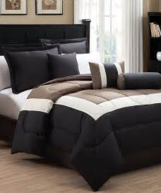 s l home fashions black taupe tranquil hotel style comforter set zulily