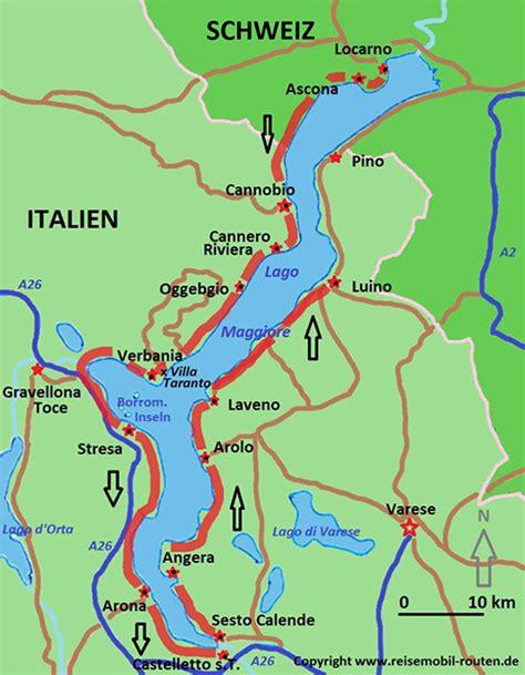 italien route  rund um den lago maggiore auf