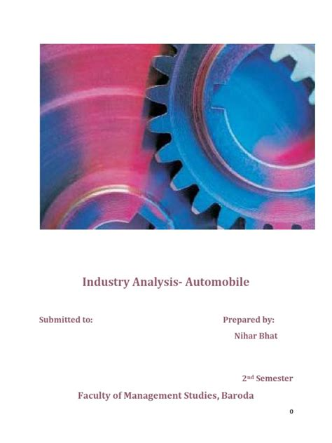 Industry Analysis Report: Automobile Sector | Car | Swot ...