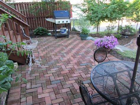 reclaimed antique brick patio