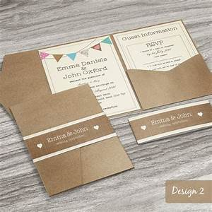 Personalised pocketfold wedding invitations day or evening for Envelope style wedding invitations uk