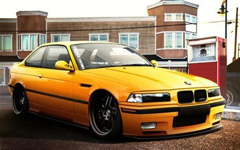 Bmw M3 Coche Amarillo Fondos De Pantalla