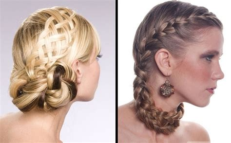 Hair Braided Updo Hairstyles Salon Formal
