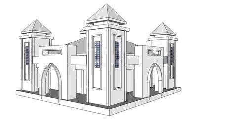 desain bangunan gambar sketsa bangunan masjid koleksi gambar mewarnai