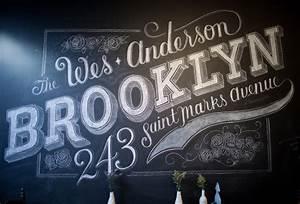 dana tanamachi39s custom chalk lettering With chalk art lettering