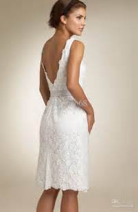 White Lace Knee Length Cocktail Dresses