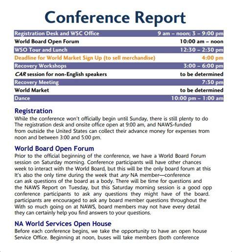 sample conference agenda templates   sample