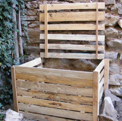 fabriquer composteur palette fabriquer un composteur en bois avec des palettes