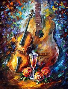 guitar and violin palette knife modern wall by With best brand of paint for kitchen cabinets with create your own 5 piece canvas wall art